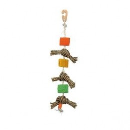 Trixie Jouet naturel pour oiseaux en corde sisal