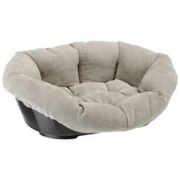 Corbeille pour Chien Siesta Deluxe Noir + Sofa Prestige gris