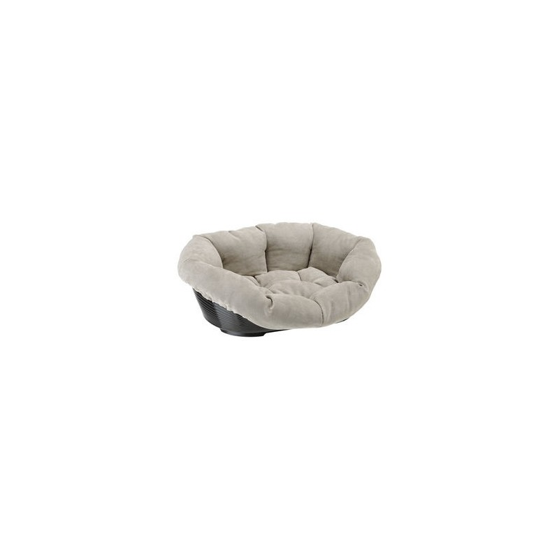 corbeille pour chien siesta deluxe noir sofa prestige gris. Black Bedroom Furniture Sets. Home Design Ideas