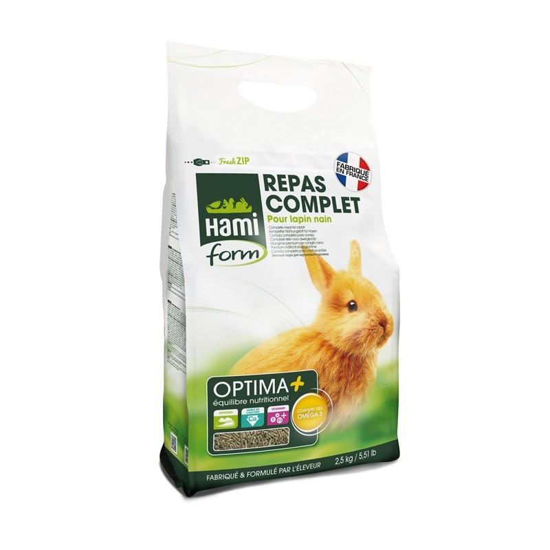 Repas Premium pour Lapin nain 2,5 kg Hami Form