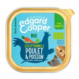 Terrine Edgard Cooper Chiot Poulet & Poisson