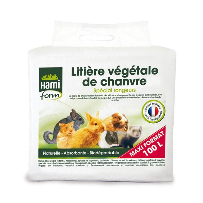 Litière végétale de chanvre 100 L Hami Form HAMI 3469980006032 Litière, foin, paille