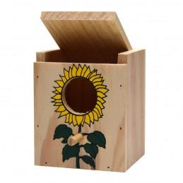 Girard Nid en bois décoré petit modèle