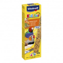 Vitakraft Kräcker Exotiques Miel & Sésame VITAKRAFT VITOBEL 4008239212573 Oiseaux Exotiques