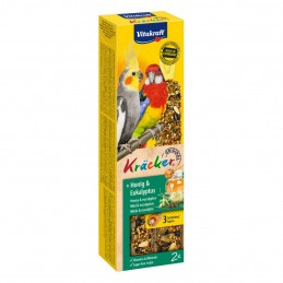 Vitakraft Kräcker Grandes Perruches Miel & Eucalyptus VITAKRAFT VITOBEL 4008239212450 Grande Perruche, Perroquet