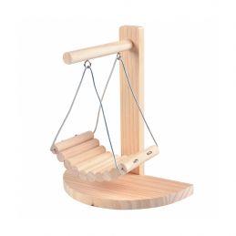 Chaise à bascule en bois pour rongeur Duvo+