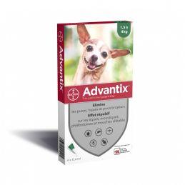 Antiparasitaire Advantix 1.5-4kg 6 Pipettes