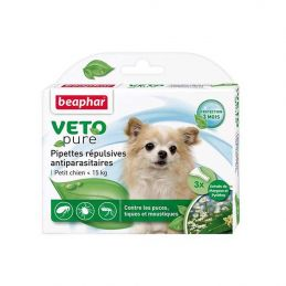 Pipettes antiparasitaires chien VetoPure