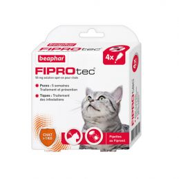 Pipettes antiparasitaires Fiprotec chat