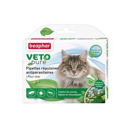Pipettes antiparasitaires chat VetoPure