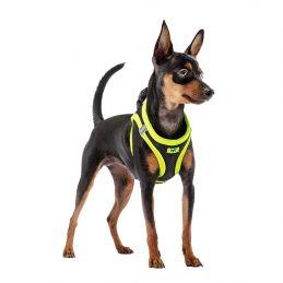Harnais réfléchissant jaune pour chien