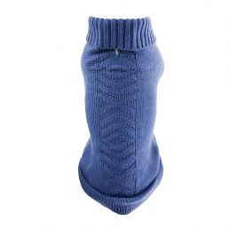 Pull tricot bleu ethnic