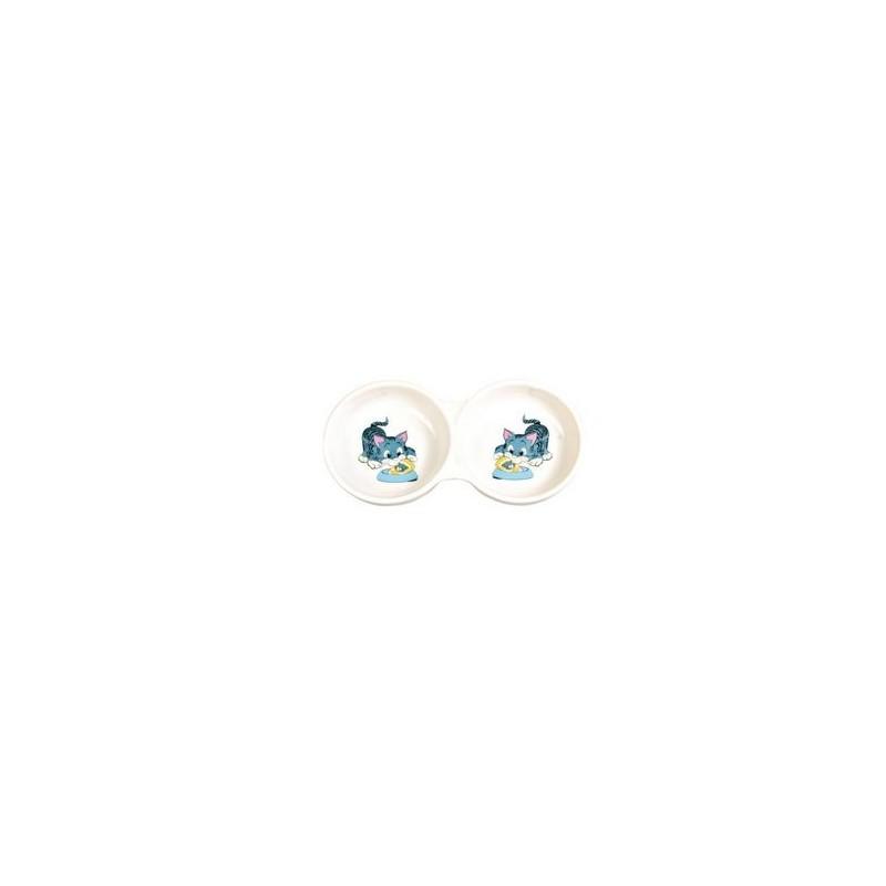Trixie double gamelle pour chats TRIXIE 4011905040141 Gamelles, distributeurs