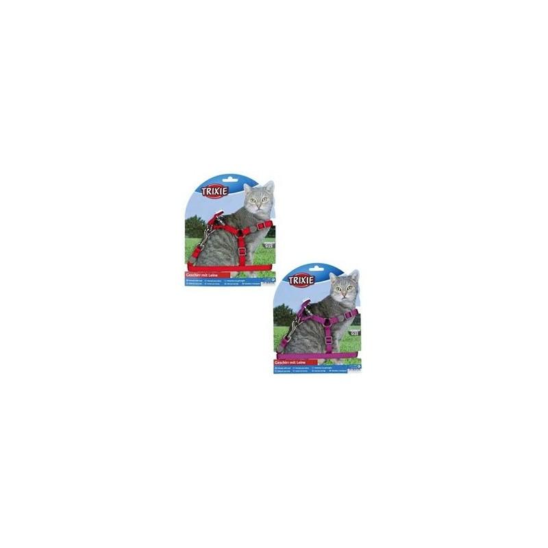 Harnais pour Chaton Trixie ajustable avec laisse (26x37cm) TRIXIE 4011905418919 Harnais