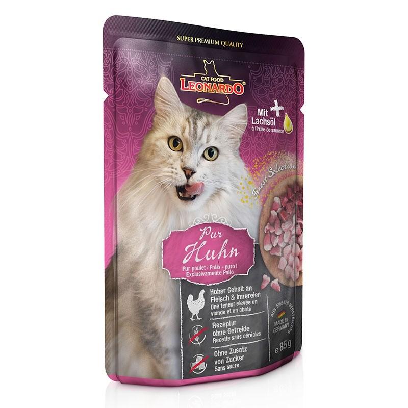 Terrine pour Chat Leonardo Pur Poulet LEONARDO  Boîtes, sachets pour chats