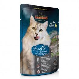 Terrine pour Chat Leonardo Truite & Catnip LEONARDO  Boîtes, sachets pour chats