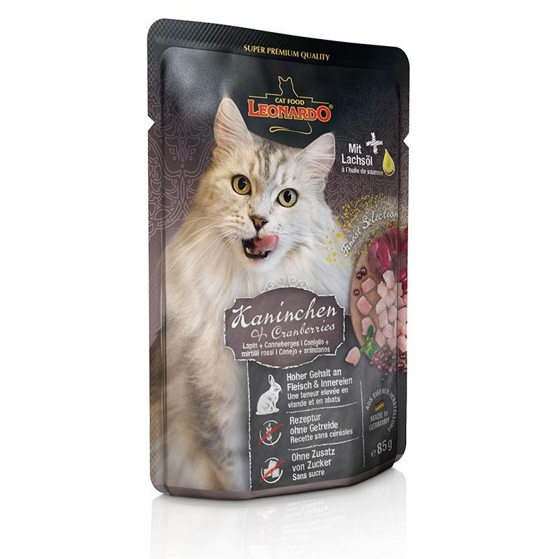 Terrine pour Chat Leonardo Lapin & Canneberges LEONARDO  Boîtes, sachets pour chats