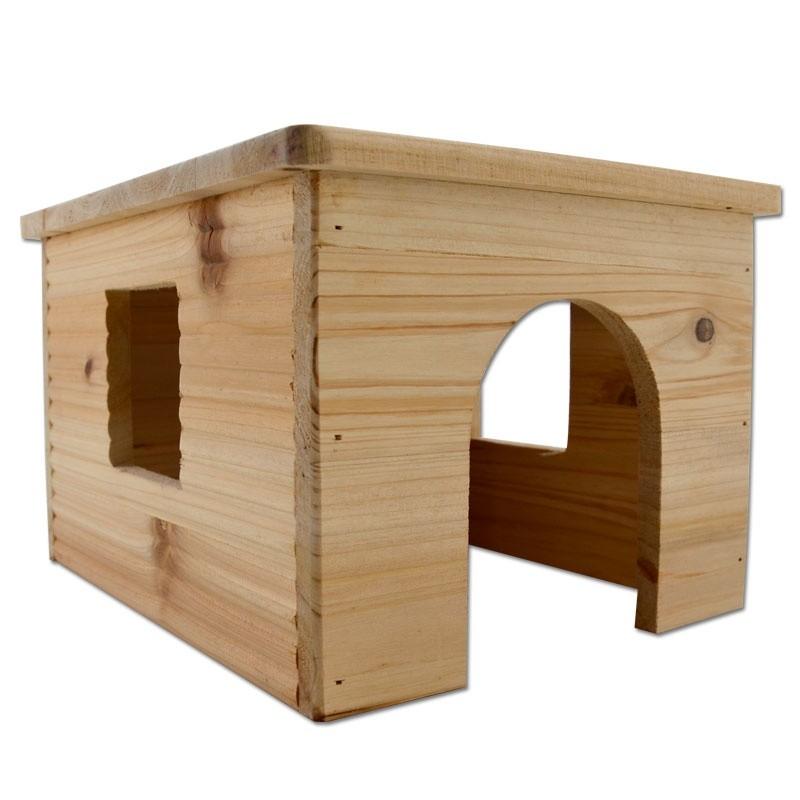 Cabane Girard pour lapin et cochon d'inde en bois