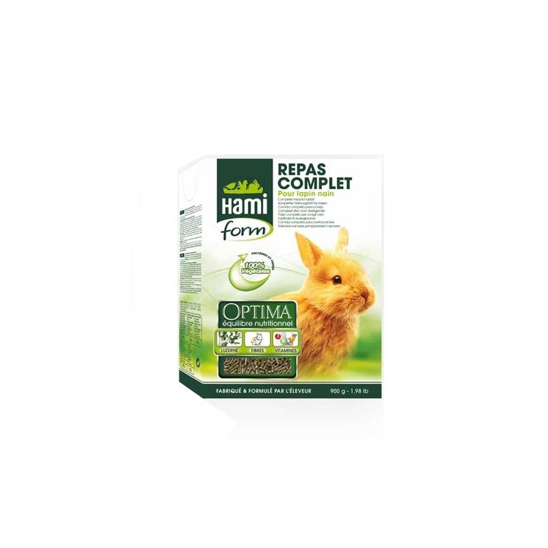 Repas Complet pour Lapin nain 900 g Hami Form