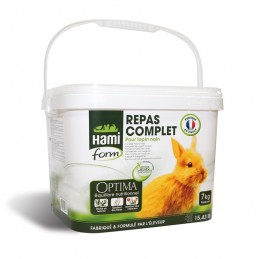 Repas Complet pour Lapin Nain 7 kg Hami Form