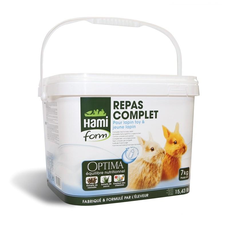 Repas Complet pour Jeune Lapin 7 kg Hami Form