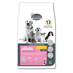 Croquettes Octave Prestige Adultes 3 kg ANIMAL FOOD DIFFUSION 3760185061186 Croquettes Octave