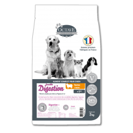 Croquettes Octave Prestige Digestion Sensible 3 kg ANIMAL FOOD DIFFUSION 3760185061193 Croquettes Octave