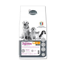 Croquettes Octave Prestige Digestion Sensible 12 kg ANIMAL FOOD DIFFUSION 3760185061209 Croquettes Octave