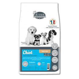 Croquettes Octave Prestige Mini Chiot 3 kg ANIMAL FOOD DIFFUSION 3760185060653 Croquettes Octave