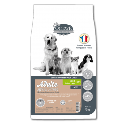 Croquettes Octave Prestige Light & Stérilisé Adulte Mini 3 kg ANIMAL FOOD DIFFUSION 3760185060691 Croquettes Octave