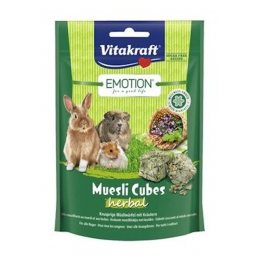 Vitakraft Emotion Muesli Cubes Herbal VITAKRAFT VITOBEL 4008239314901 Rongeurs