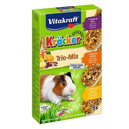 Kräcker Cochon d'Inde Trio Mix Vitakraft VITAKRAFT VITOBEL 4008239253378 Friandise & Complément