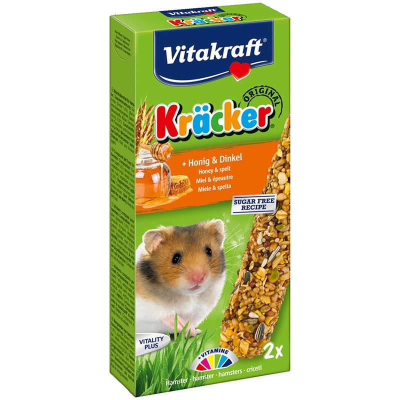 Kräcker Hamsters Miel & Epeautre Vitakraft VITAKRAFT VITOBEL 4008239251527 Friandise & Complément