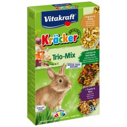 Kräcker Trio-Mix Lapins nains Vitakraft VITAKRAFT VITOBEL 4008239250872 Friandise & Complément