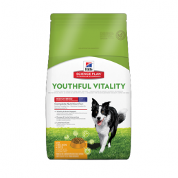 Hill's Adult 7+ Youthful Vitality Medium Poulet & Riz 10 kg HILL'S 052742015835 Croquettes Hill's