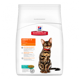 Hill's Feline Adult Light Thon 1.5 kg HILL'S 052742760704 Croquettes Hill's