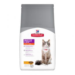 Hill's Feline Adult Sensitive Stomach & Skin Poulet 1.5 kg HILL'S 052742017242 Croquettes Hill's