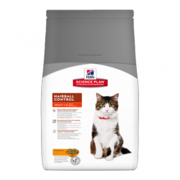 Hill's Feline Adult Hairball Control Poulet 1.5 kg HILL'S 052742760803 Croquettes Hill's
