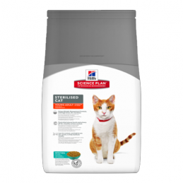 Hill's Feline Sterilised Young Adult Thon 8 kg HILL'S 052742004785 Croquettes Hill's