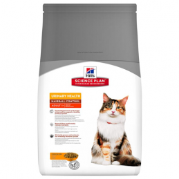 Hill's Feline Adult Urinary & Hairball Poulet 1.5 kg HILL'S 052742003719 Croquettes Hill's