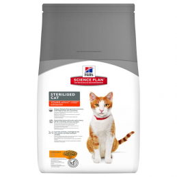 Hill's Feline Sterilised Young Adult Poulet 3.5 kg HILL'S 052742935409 Croquettes Hill's