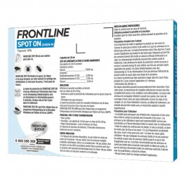 Spot On Chien Frontline 10-20 kg FRONTLINE  Pipettes