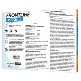 Spot On Chien Frontline 2-10 kg FRONTLINE  Pipettes