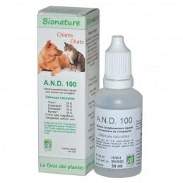 Résistances naturelles A.N.D 100 Bionature ANIBIO 3760112260095 Compléments alimentaires