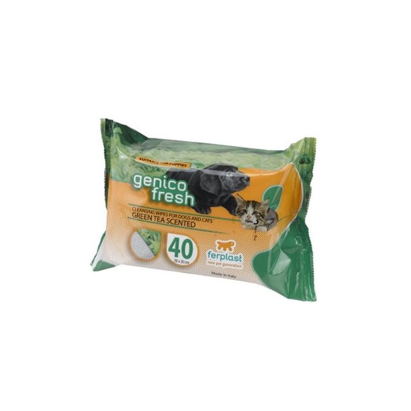 Lingettes pour chien & chat Ferplast Genico Fresh FERPLAST  Soin des oreilles, yeux, du pelage