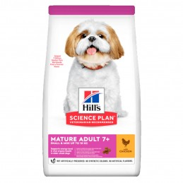 Croquettes Hill's Small & Mini Mature 7+ Poulet  HILL'S  Croquettes Hill's