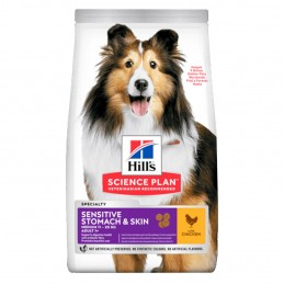 Croquettes Hill's Medium Sensitive Stomach & Skin Poulet  HILL'S  Croquettes Hill's