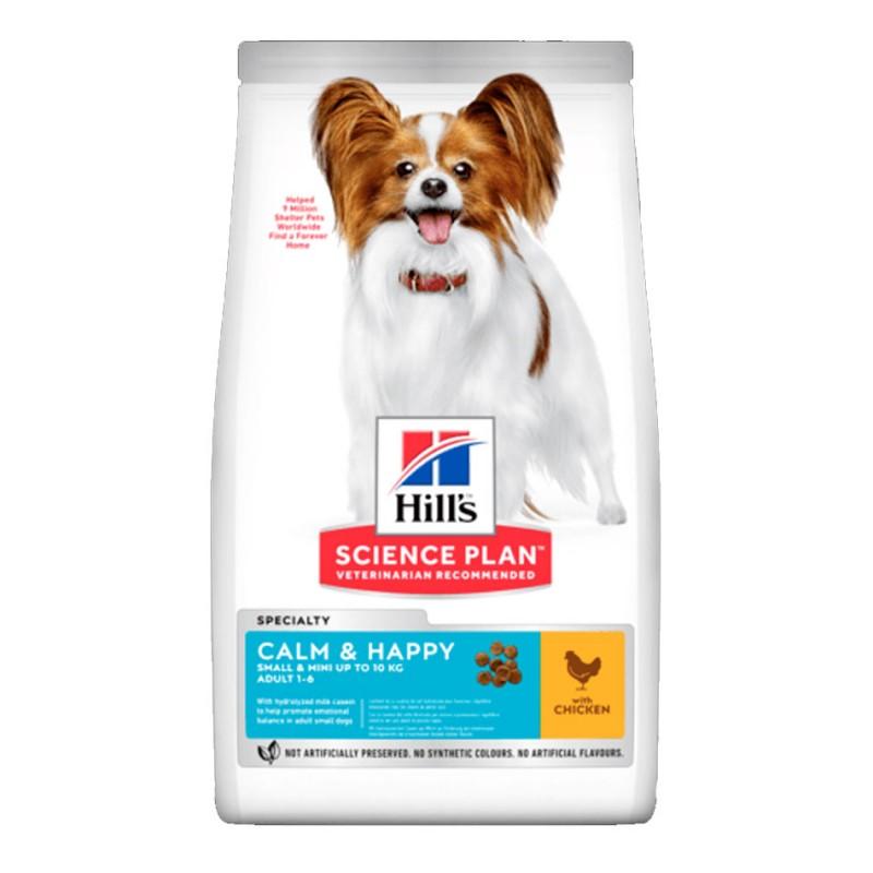 Croquettes Hill's Small & Mini Calm & Happy Poulet 5 kg HILL'S 052742302829 Croquettes Hill's