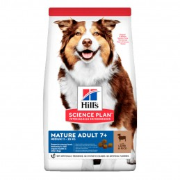 Croquettes Hill's Medium Mature 7+ Agneau & Riz 12 kg HILL'S 052742927305 Croquettes Hill's