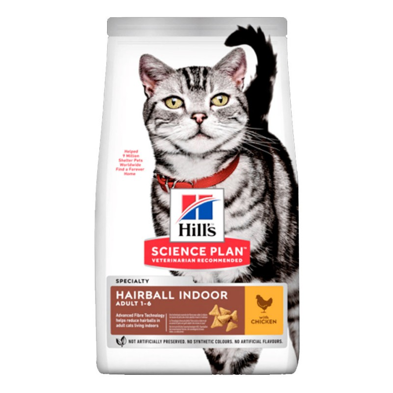 Croquettes Hill's Adult Hairball Indoor Poulet  HILL'S  Croquettes Hill's